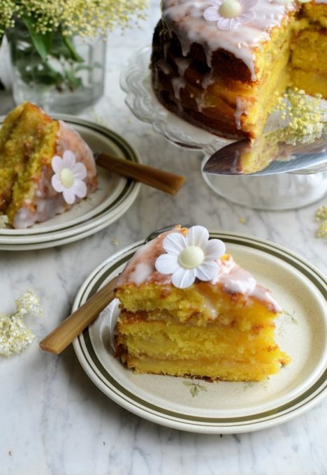 Bramley Apple Cake with Lemon and Elderflower