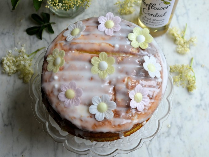 Apple, Lemon and Elderflower Drizzle Cake