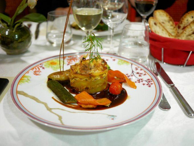 Foie Gras Lasagne at Les Jardins d'Harmonie