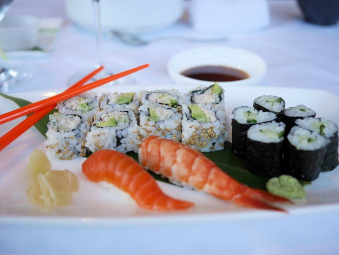 Sushi class at the Lobby Lounge & Raw Bar, Fairmont Pacific Rim Hotel