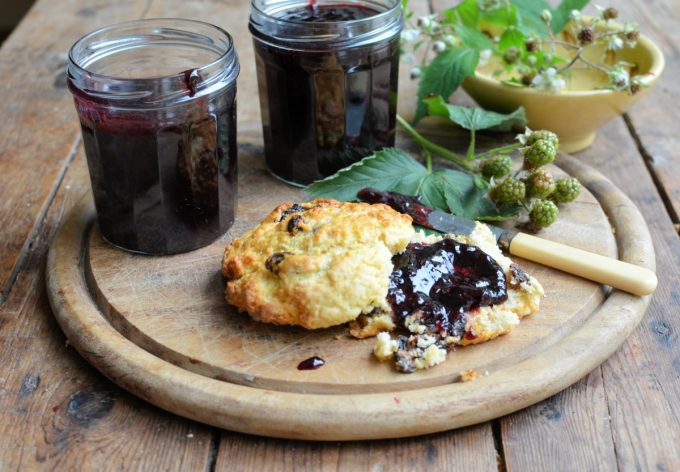 Bramble Jam and Scones