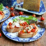 Roast Tomato & Grana Padano Bruschetta with Capers
