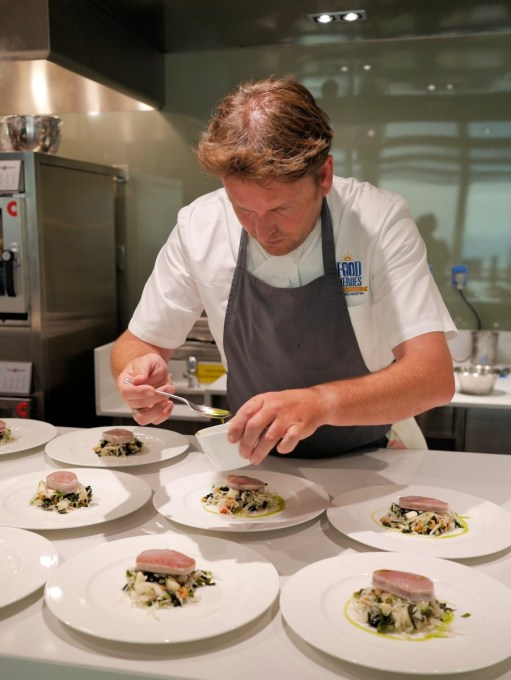 James Martin cooking for a private hosted dinner