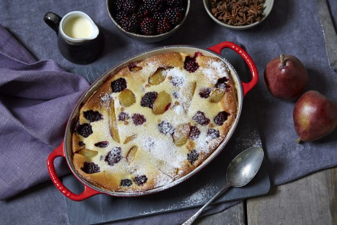 PEAR AND BLACKBERRY CLAFOUTIS