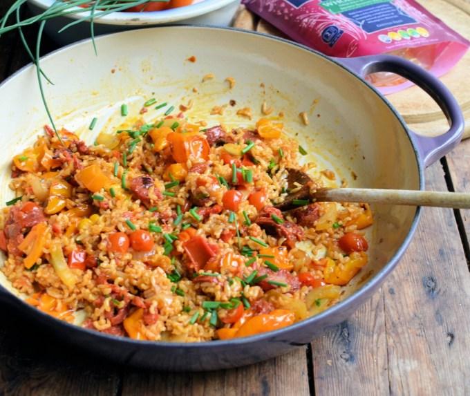 Spanish Chorizo and Sweet Pepper Rice