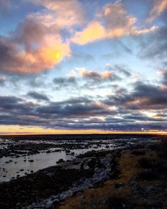 Sunset at Seal River Lodge
