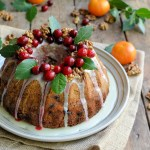 Spiced Cranberry & Walnut Bundt Cake