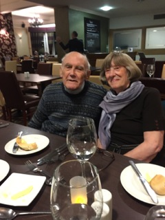 Mum and Dad on Mum's Birthday in October 2016 at Burn Hall, York