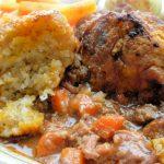 Beef Casserole and Dumplings