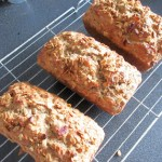 banana cake with rum granola