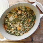 green bean and chickpea coconut curry