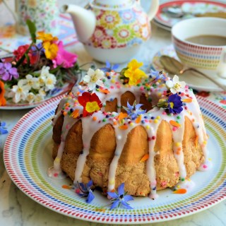 Confetti Funfetti Chiffon Cake for Easter Sunday Tea