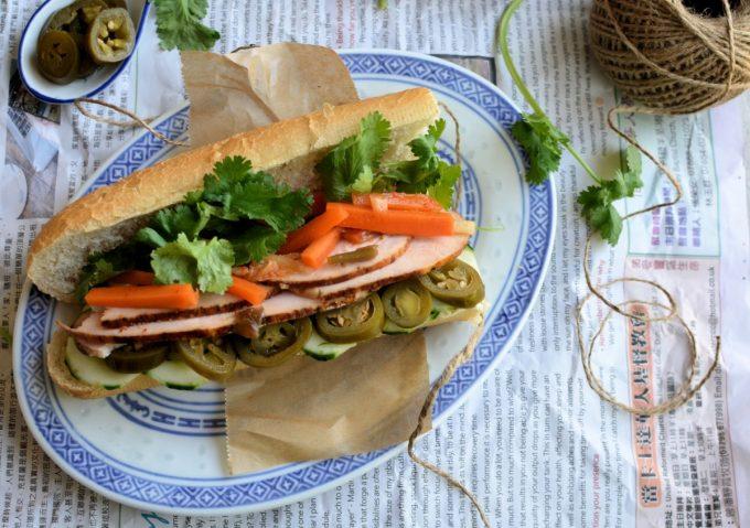 Vietnamese Bánh Mì Sandwich
