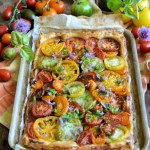 Rainbow Heirloom Tomato Tart