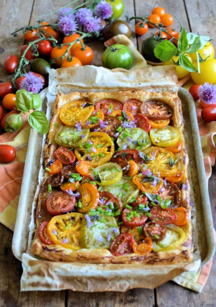 Rainbow Heirloom Tomato Tart