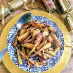 Sticky Roast Parsnips with Brown Sugar and Cinnamon