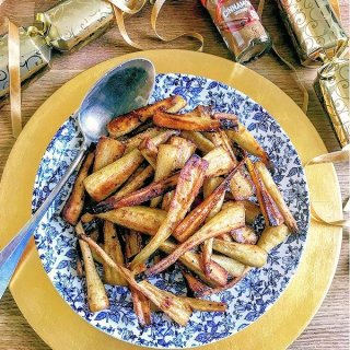 Roast Parsnips with Brown Sugar and Cinnamon
