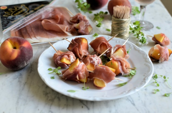 Prosciutto di Parma and Peach Mini Skewers