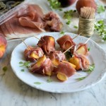 Parma Ham and Peach Skewers