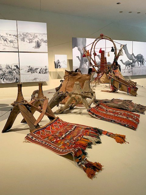 Camel Saddlebags at the National Museum of Qatar