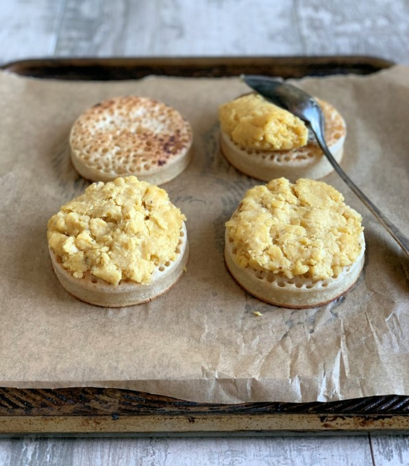 Cheese  on Crumpets