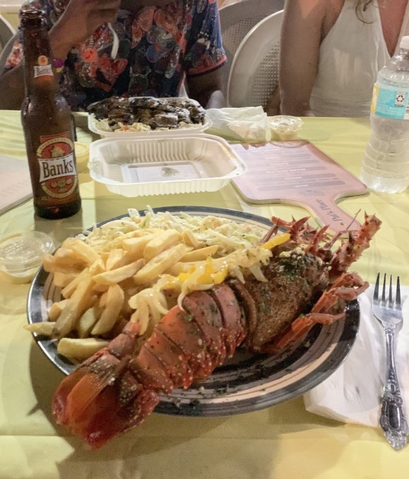 Oistins Fish Fry Lobster and Chips