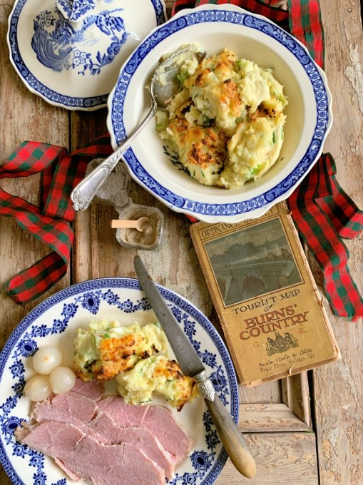 RUMBLEDETHUMPS – SCOTTISH POTATO, CABBAGE & CHEESE GRATIN