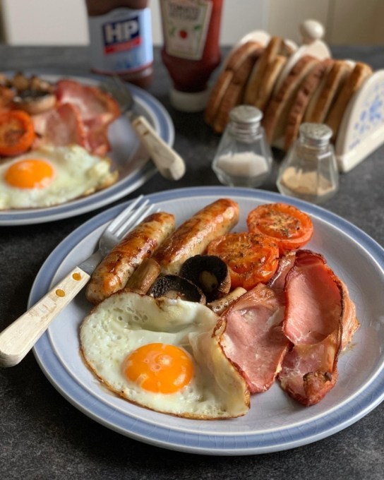 Simple Grilled B & B Breakfast
