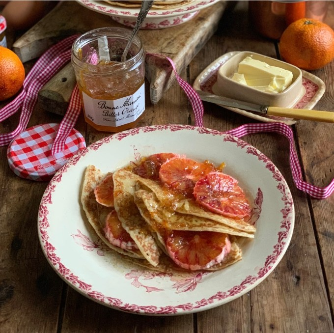 Boozy Bitter Marmalade & Blood Orange Pancakes