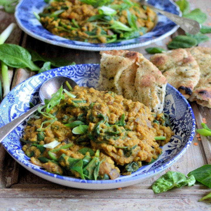 Coconut, Ginger and Spinach Dhal