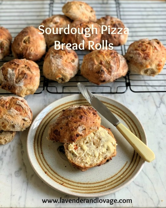 Sourdough Pizza Bread Rolls