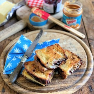 PB and J Grilled Cheese Sandwich