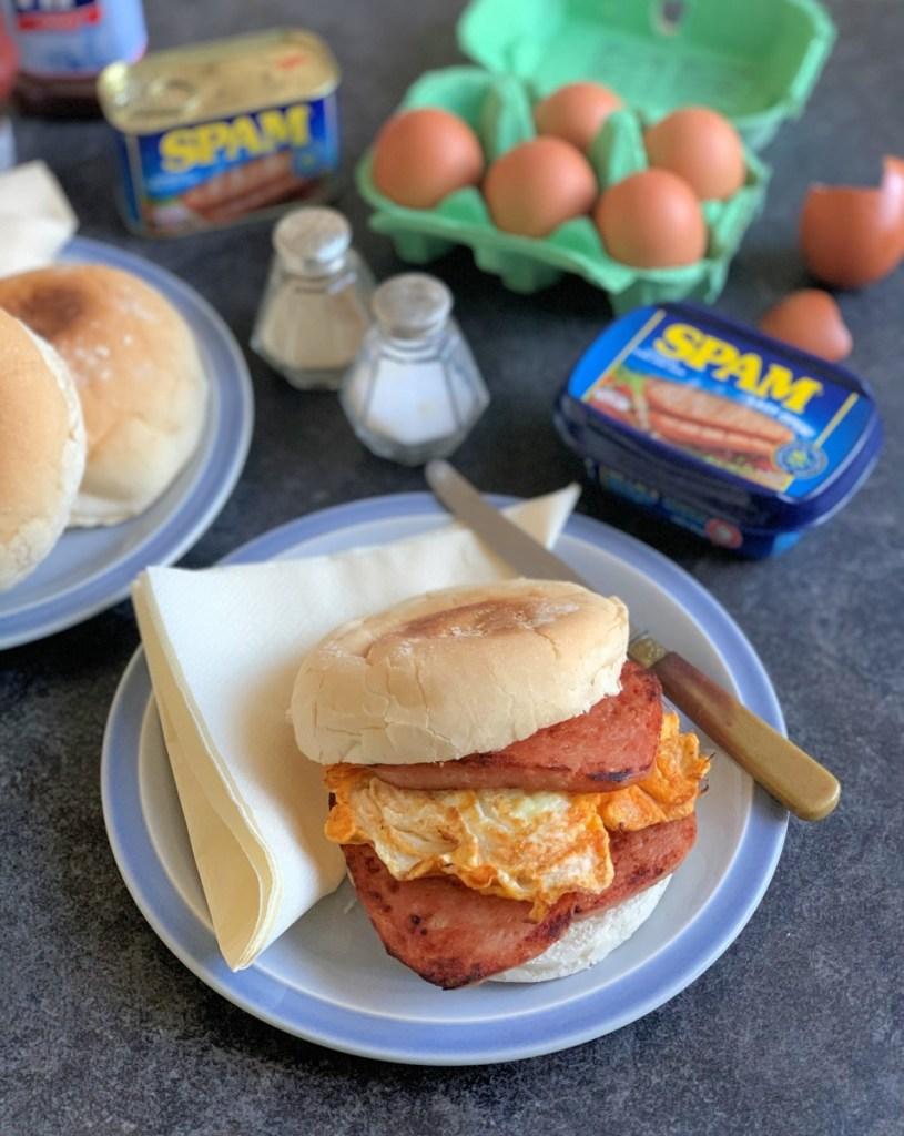SPAM® and Eggs Breakfast Sandwich