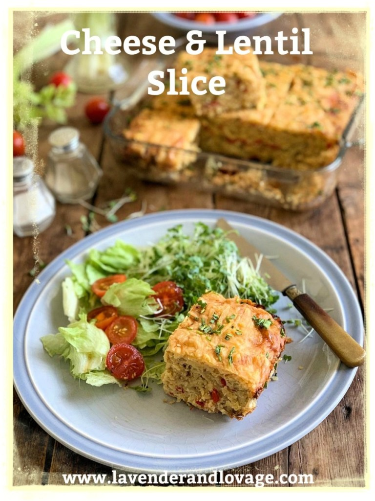 Cheese and Lentil Slice