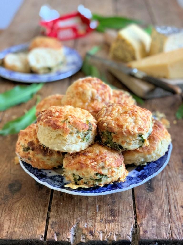 Sourdough Cheese & Wild Garlic Scones