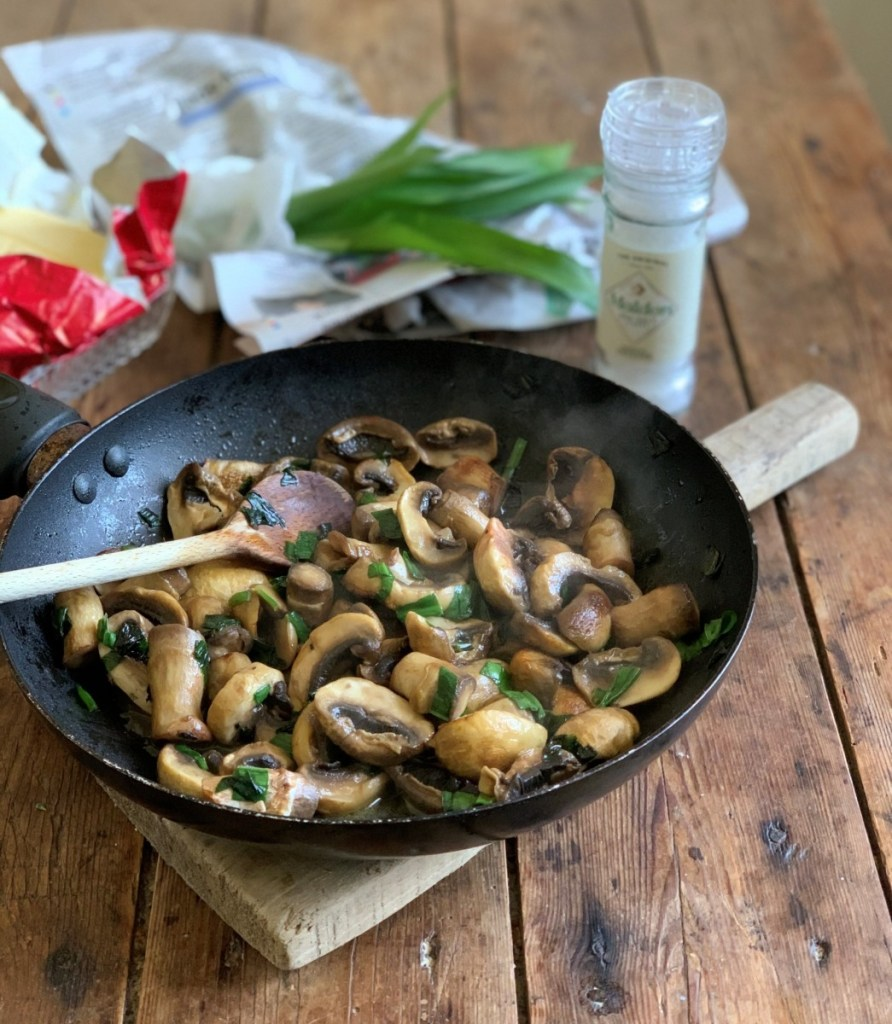 Wild Garlic and Mushrooms