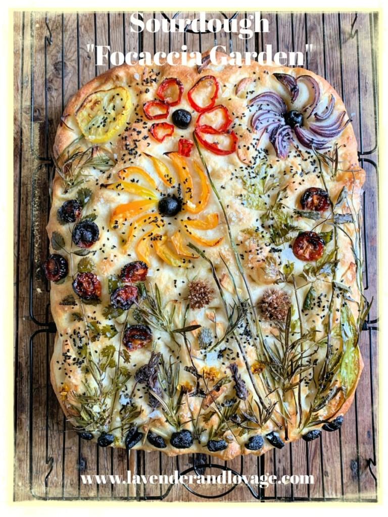 """How to make a Sourdough """"Focaccia Garden"""""""