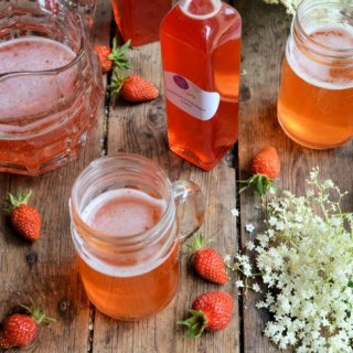 Elderflower and Strawberry Cordial/Syrup