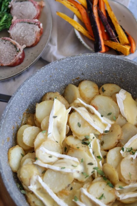 Thyme & Brie Potatoes by Curly's Cooking