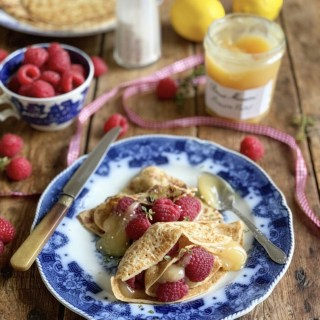 Lemon Curd & Raspberry Crêpes