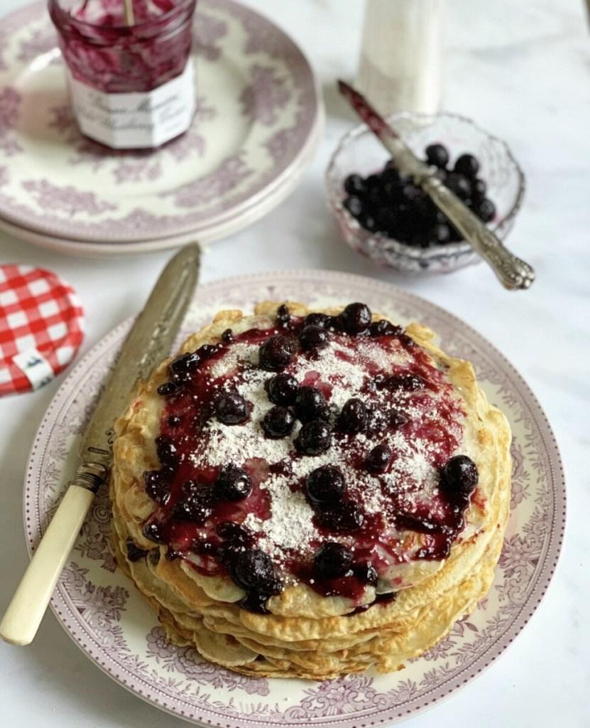 Wild Blueberry Pancake Stack