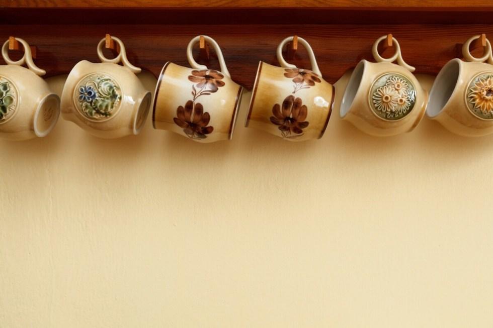 Mugs hanging up