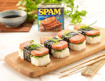 SPAM® & Chive Sushi