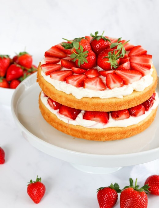 Strawberries & Fresh Cream Cake