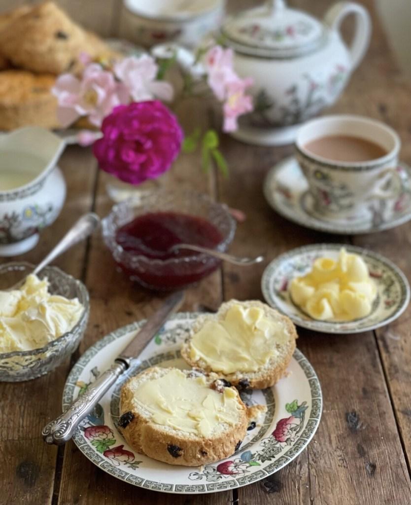 Buttered Scones for Cream Tea