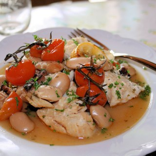 Spanish Cod with Pimenton and Butter Beans