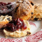 Buttermilk and Mixed Fruit Scones with Sour Cherry Jam