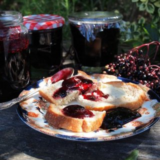 Elderberries, Hedgerow Harvests and A Cornucopia of Preserves for the Autumn Pantry