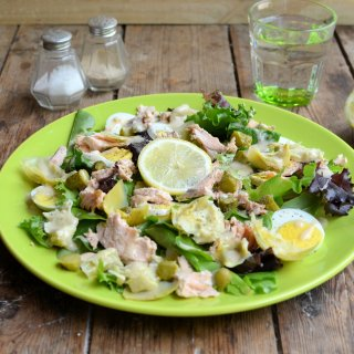 British Egg Week & Egg-Cellent Recipes:  5:2 Diet Egg, Artichoke and Salmon Salad