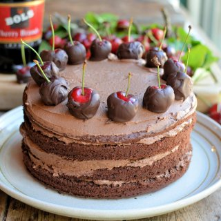 A Show-stopping Chocolate Cherry Cake for Chocolate Week!